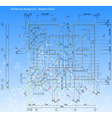 Blue print style drawing of a rafters house frame vector