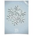 White office snowflake vector