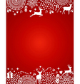 Merry christmas elements red postcard template vector