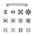 Symmetry type signs set vector