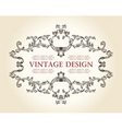 vintage royal old frame ornament decor text vector