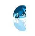 Diamond on a blue background vector