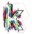 Colorful font - letter k vector