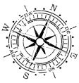 Grunge compass vector