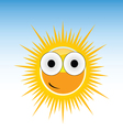 Sun funny with big eye vector