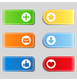 Tabs with icons vector