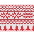 Christmas knitted background vector