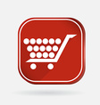 Square icon cart online store vector