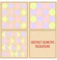 Abstract geometric vintage background vector
