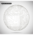Abstract sphere diagram technology background vector