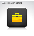 Suitcase icon gold vector