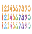 Set of number candles vector