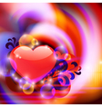 Abstract background with heart vector