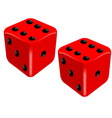 Red dice set success concept vector