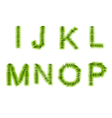 Grass letters i j k l m n o p vector