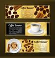 Coffee banners horizontal vector