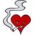 Heart smoker vector