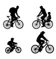 Recreational bicyclists vector