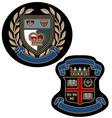 Royal emblem badge vector