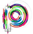 Colorful font - letter p vector