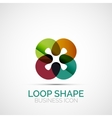 Abstract symmetric business icon vector