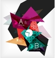 Infographic abstract background with options vector