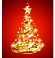 Film strip christmas tree vector
