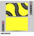Modern road concept business-card set vector
