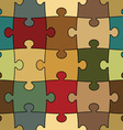 Seamless puzzle - easy change color vector