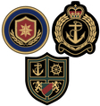 Sail anchor emblem badge vector