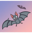 Bats cartoon in fly vector