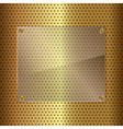 Gold and glass vector