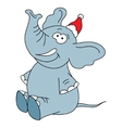 Funny elephant character on a white background vector