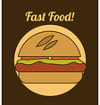Burger design vector