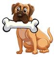 A dog with a bone vector