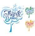 Thank you inscription vector
