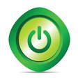 Power button in green color vector