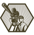 Vintage movie television film camera director vector