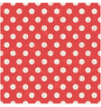 Seamless polka dots texture red pattern vector