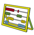 Abacus with many colorful beads vector