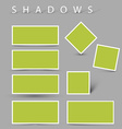 Set of shadow effects vector
