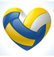 Volleyball heart vector