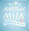 Vintage posters milk vector