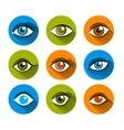 Eyes icons flat set vector