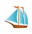 Sailing boat logo icon vector