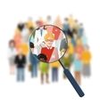 Looking for a person in the crowd vector