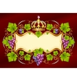 Grape frame with crown vector