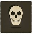 Old background with skull vector