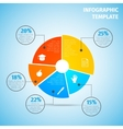 Pie chart education infographic vector