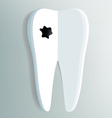 Tooth as a notepad with ink drop vector